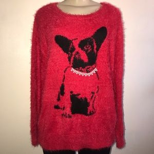 Black Rivet Women's red sweater long sleeves large